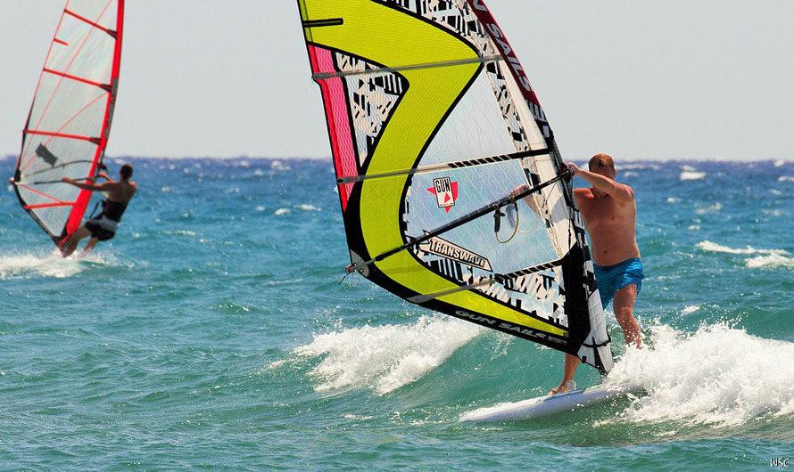Виндсерфинг осень на Кипре